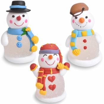 3 Bonhommes de neige gélifiées aux fruits