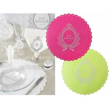 6 Sets de table Just Married
