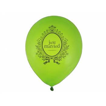 8 Ballons Just Married vert