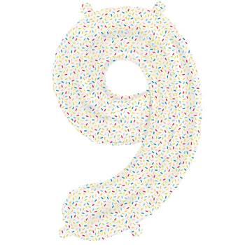 Ballon chiffre 9 sprinkles