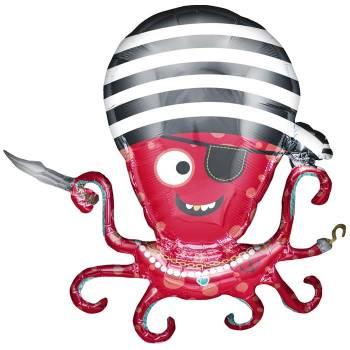 Ballon hélium poulpe pirate