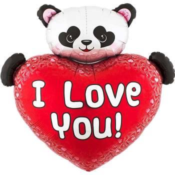 Ballon hélium coeur panda