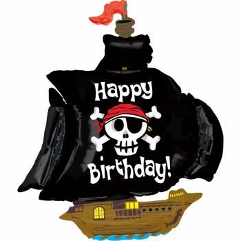 Ballon hélium bateau pirate