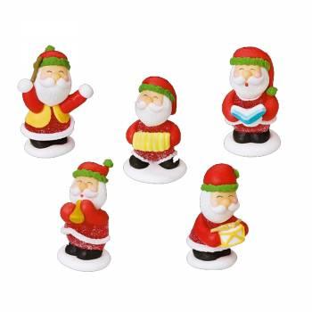 5 Père Noël gélifiés en sucre