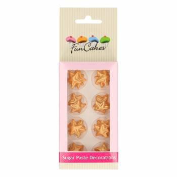 24 étoiles or en pâte à sucre Funcakes