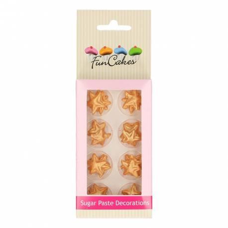 Les étoiles dorées en pâte à sucre sont parfaites pour la décoration de vos cupcakes mais aussi pour celle de vos gâteaux, biscuits,...