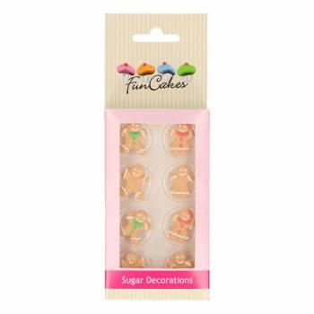 8 bonhommes de Noël en sucre Funcakes