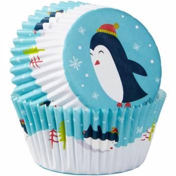 75 caissettes cupcakes Pingouins Wilton