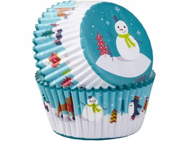 caissettes cupcakes bonhomme de neige Wilton