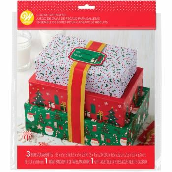 3 Boîtes à gâteaux de Noël Wilton