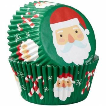 75 caissettes cupcakes Père Noël Wilton