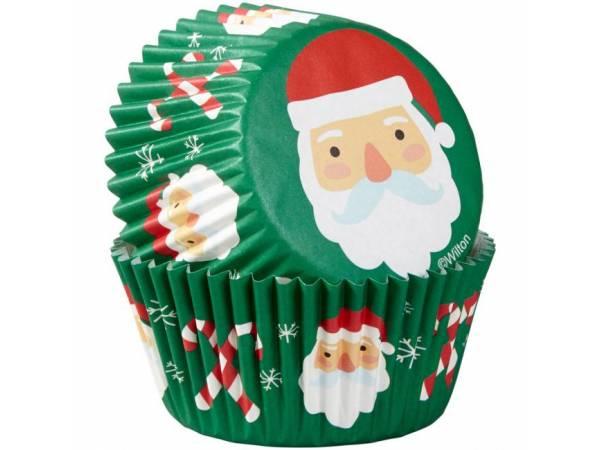 caissettes cupcakes Père Noël Wilton