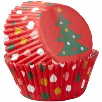 75 caissettes cupcakes Sapin de Noël Wilton