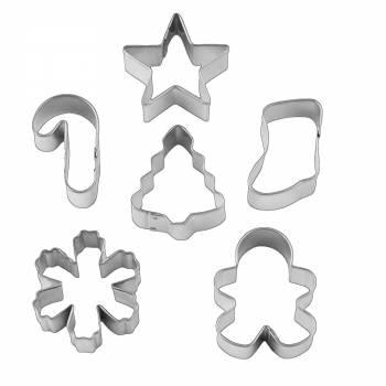 Set 6 mini emporte pièces sur couronne Wilton