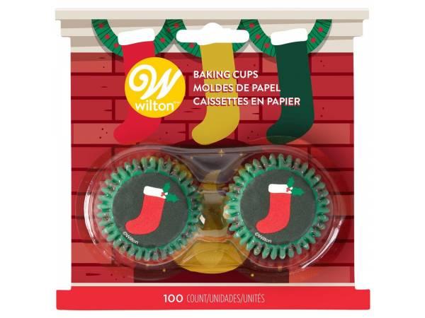 mini caissettes cupcakes botte Noël Wilton
