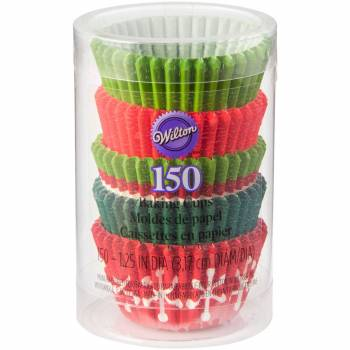 150 Mini Caissettes Noël tradition Wilton