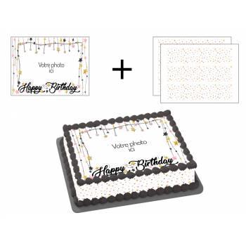 Kit Easycake étoiles à personnaliser A4