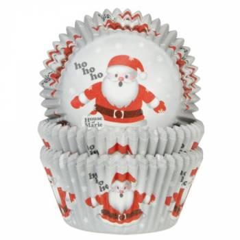 50 Caissettes cupcakes père noël