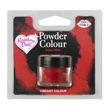 Colorant alimentaire 100% comestibles en poudre rouge piment de la marque Rainbow dustLe colorant en poudre sert à peindre sur tous...