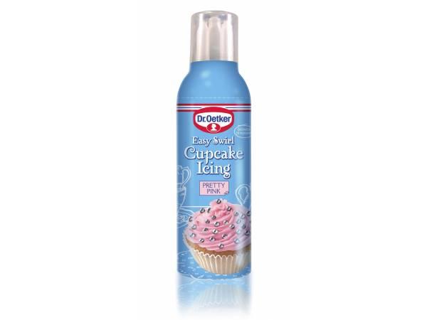Bombe de glaçage rose vanille
