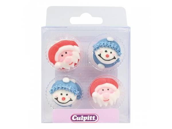 mini décors en sucre personnages Noël