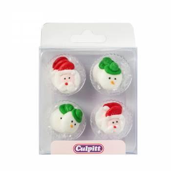 12 mini décors en sucre Noël