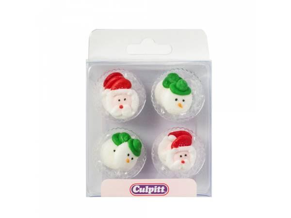 mini décors en sucre Noël