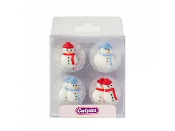 mini décors en sucre snowman