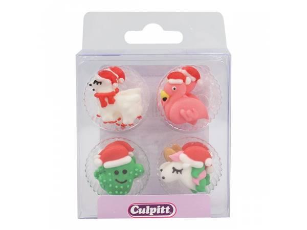 mini décors en sucre Noël Tropical