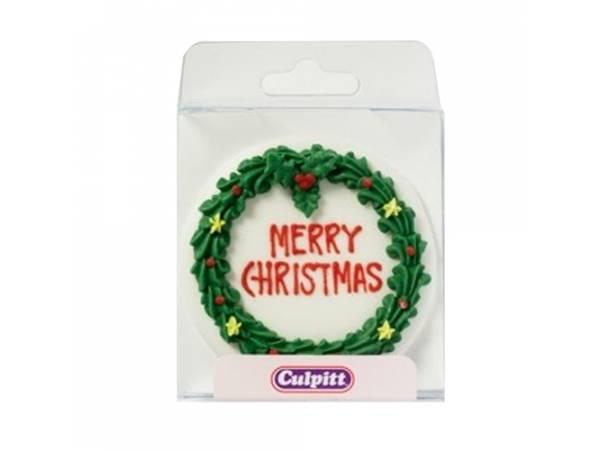 Plaque en sucre Merry Christmas