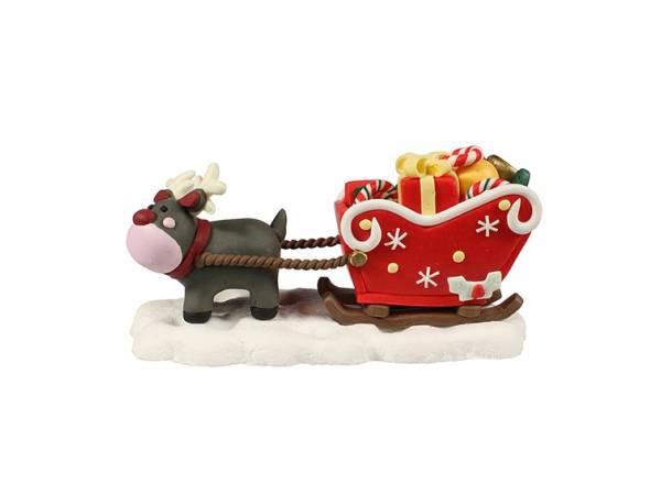 Traîneau de Noël fun en sucre