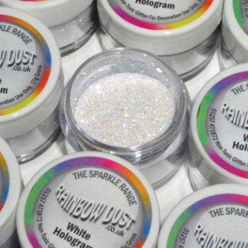 Paillettes décoratives hologramme blanc