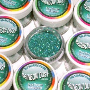 Paillettes décoratives hologramme vert d'eau