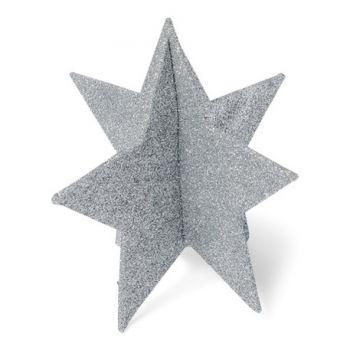 Décor de table étoile or argent