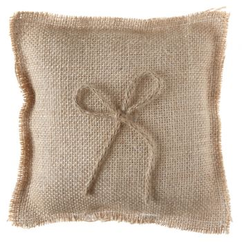 Coussin alliances jute naturel