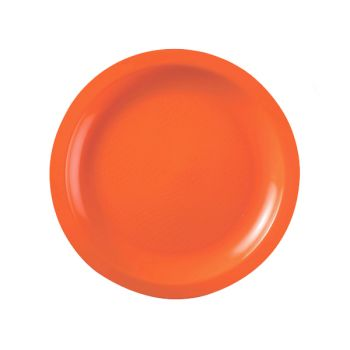 10 Assiettes ronde dessert orange