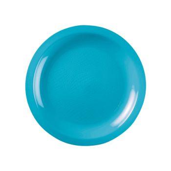 10 Assiettes ronde dessert turquoise