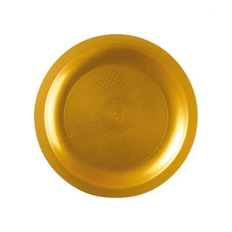 Paquet de 10 assiettes à dessert en plastique ronde jetable de haute qualité incassable et recyclable. Elles ont également l'avantage de...