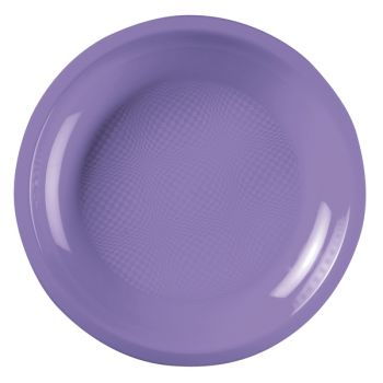 10 Assiettes ronde lilas