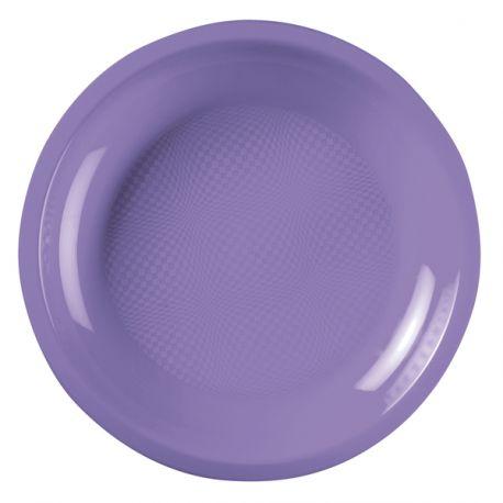 Paquet de 10 assiettes en plastique ronde jetable de haute qualité incassable et recyclable. Elles ont également l'avantage de passer au...