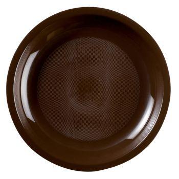 10 Assiettes ronde noires