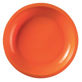 10 Assiettes ronde orange