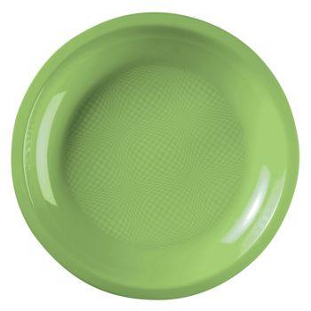 10 Assiettes ronde vert anis