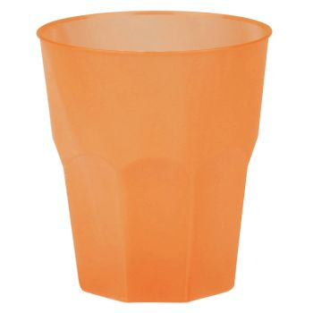 20 Verres cocktail plastique givré orange