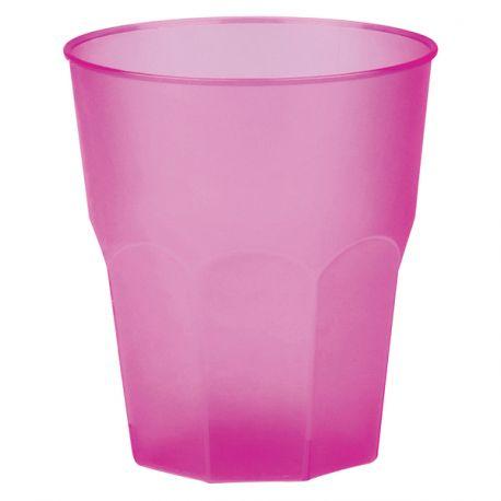 20 Verres en plastique translucide effet givré fuchsia pour vos cocktailsSuperbes gobelets haut de gamme réutilisable, incassable et...