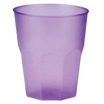 20 Verres cocktail plastique givré lilas
