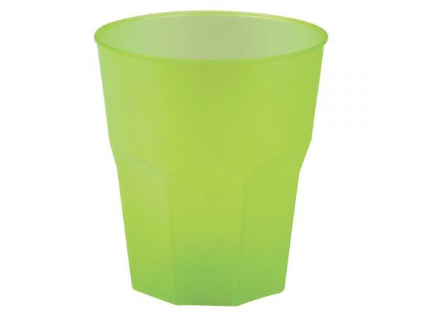 vaisselle jetable verre cocktail en plastique translucide givr vert anis. Black Bedroom Furniture Sets. Home Design Ideas