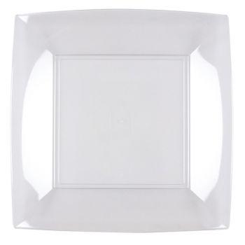 8 Assiettes carrée transparente