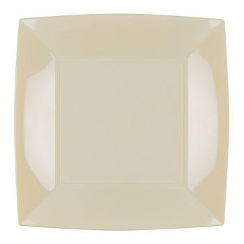 8 Assiettes carrée ivoire