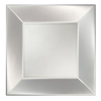 8 Assiettes carrée perle